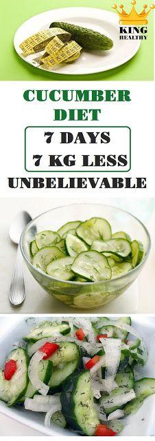 Cucumber Diet (7 days – 7 kg Less) Unbelievable!
