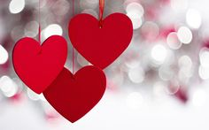 free red hearts sparkle lovely valentine day love hd wallpapers download