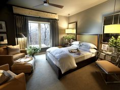 Designed to emulate the chic design of a boutique motel, the 2011 HGTV Dream Home guest bedroom offers a lavish getaway for singles and couples alike.