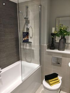 Most Popular Small Bathroom Remodel Ideas on a Budget in 2018 This beautiful look was created with cool colors, and a change of layout. Small Bathroom Suites, Small Bathroom Storage, Family Bathroom, Budget Bathroom, Bathroom Design Small, Bathroom Interior Design, Bathroom Renovations, Modern Bathroom, Bathroom Ideas