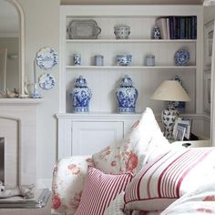 Blue floral living room | Summer living room ideas - 20 of the best | housetohome.co.uk#results