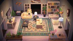 Animal Crossing Wild World, Animal Crossing Villagers, Animal Crossing Pocket Camp, Animal Crossing Game, Cute Living Room, Beach Living Room, Cozy Living Rooms, The Sims, Christmas Living Rooms