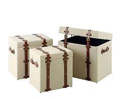 Set de 3 baúles – crema  http://www.westwing.es