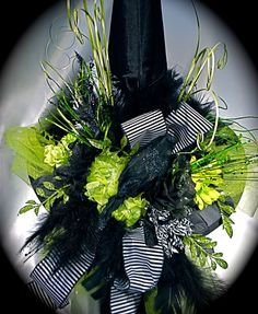 Elphaba 's Wicked Witch Hat II OOAK by Marcellefinery on Etsy, $72.00