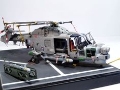 A nice look on a 1/48 Scale Airfix made plastic model kit of the Westland Lynx HMA.8 @ http://www.hobbylinc.com/airfix-westland-lynx-mk-88a:hma8:mk-90b-multi-role-helicopter-plastic-model-helicopter-1:48-10107