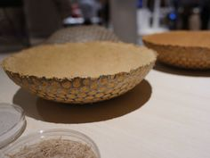 the sakan collection by bril is made from a mixture of straw and soil
