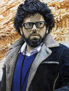 'Self Portrait as George Lucas'. From my Star Wars-inspired series SANDSTORM. 2013