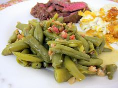 Ranch Style Green Beans - the best green beans. I always have to double the recipe!