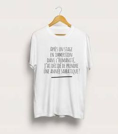 Tshirt personnalisé stage en immersion