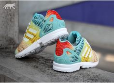 adidas ZX Flux Rainbow Feather  sneakers Adidas Originals Zx Flux a2f99acc073
