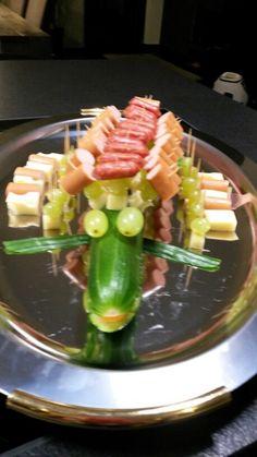 Krokodil - Wurst-, Käsespieße