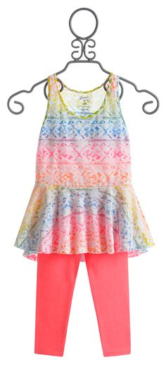 Flowers by Zoe Tunic with Capri for Tweens