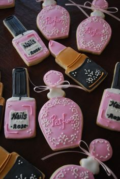 Cosmetics Cookies! Cool idea for a Bridal Shower.