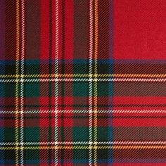 STEWART (Modern Royal) GL017 100% Wool 10.5oz Tartan. Woven in Yorkshire by Marton Mills. Wool Fabric, Design Show, Yorkshire, Tartan, Swatch, Weaving, Coding, Pure Products, Colors