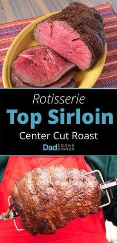 Rotisserie Top Sirloin Center Cut Roast - Tower Image | DadCooksDinner.com