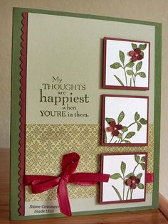 Wedding Card Templates: <b>Stampin Up Just Believe</b> and Field Flowers