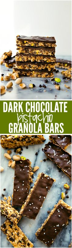 Dark Chocolate Pistachio Bars are naturally sweetened and filled with good-for-you ingredients! Plus they are simple to make and adapt!