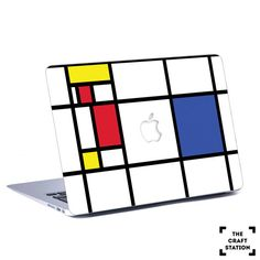 *Artwork of Piet Mondrian*  *Description* The stickers are made of high quality vinyl film. The film is suitable for Macbook or any laptops and other smooth surfaces such as glass, mirrors, doors, ceilings, and also uneven surfaces such as cars. The only condition is that the surface should be clean and smooth.  *Size* Available for all Macbook models  *Color* multi color  * You have the option of changing the colors for this product. Make a request or choose a color*  What is Mirror…