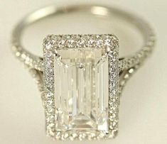 Emerald cut engagement ring  I LOVE THIS!