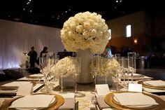 white rose tablescape #wedding #centerpiece #decor