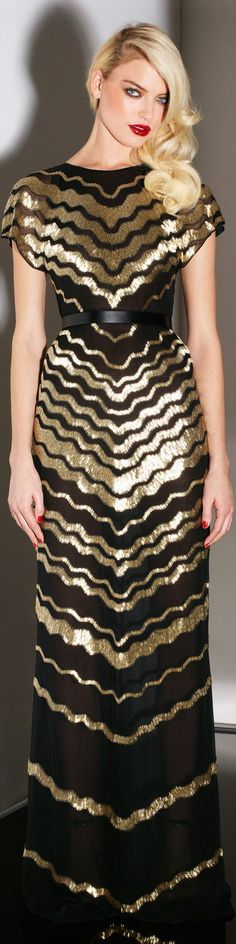 BLACK & GOLD FASHION ~ Jason Wu