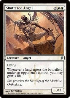 Magic: the Gathering - Shattered Angel - New Phyrexia by Wizards of the Coast. $0.80. From the New Phyrexia set.. This is of Uncommon rarity..