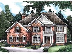 Colonial House Plan with 3327 Square Feet and 5 Bedrooms from Dream Home Source | House Plan Code DHSW32079
