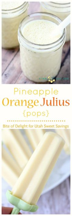 Pineapple Orange Julius pops - these look amazing!