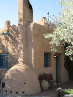 Architecture | Authentic Adobe Pueblo-style - Pueblo Bonito Bed & Breakfast Inn, located in Santa Fe, New Mexico. @Maria Cash hahahahaha GIRL YOU KNOW!