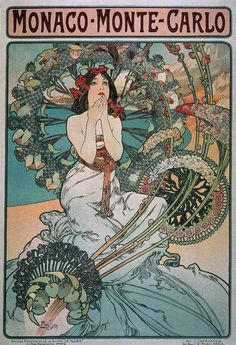 For Anon:An example of art nouveau by Alphonse Mucha
