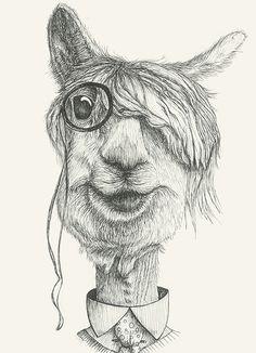https://flic.kr/p/DeMvcd | Mr Blade #blade#animals#drawing#glasses#dandy#elegant by Leo Bellei