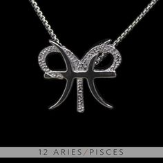 The Aries and Pisces Silver Unity Pendant