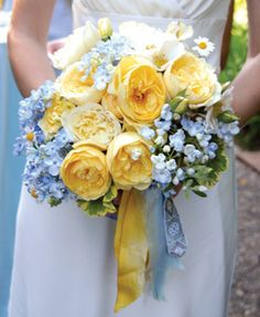 Blue and Yellow Wedding Bouquet   |