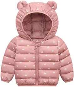 Desirca Unisex Coat Baby Girls Boys Down Cotton Thick Casual Parkas Kids Scarf Hooded Coats