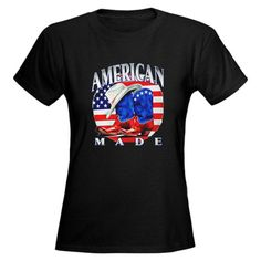 Fantastic Artsmith, Inc. Women's Dark T-Shirt American Made Country Cowboy Boots and Hat