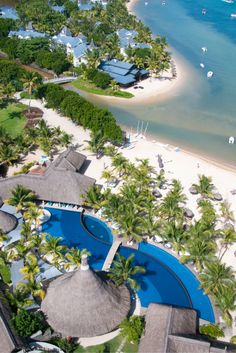#Travel #Wanderlust : #Aerial view of The C Beach Club and Heritage Le Telfair in Mauritius