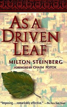 Goodreads | As a Driven Leaf by Milton Steinberg - Reviews, Discussion, Bookclubs, Lists