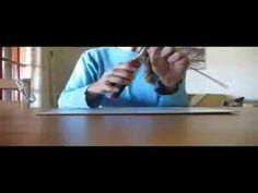 Come fare il cuore con le cannucce di carta - YouTube