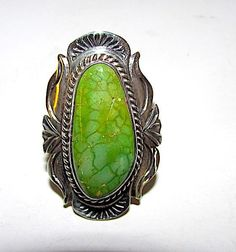Sterling Silver Ethnic Asian Vintage Style Turquoise Stone Ring Size M 1/2 Gift Jewellery & Watches Fine Rings
