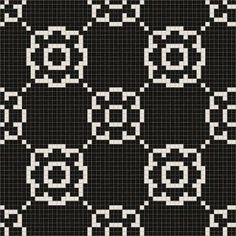 Mosaic Loft Flourish Glimmer Motif 24 in. x 24 in. Glass Wall and Light Residential Floor Mosaic Tile-043-0101 at The Home Depot