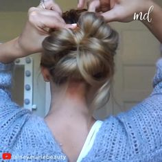 MESSY BUN! 4 easy ways to do a low messy bun By: @laineymariebeauty Low Pony Hairstyles, Ponytail Hairstyles Tutorial, Bun Hairstyles For Long Hair, Pretty Hairstyles, Prom Hairstyles, Hairdos, Updos, Medium Hair Styles, Curly Hair Styles