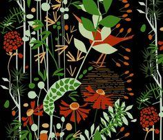 Midnight in a perfect world (black) fabric by mirjamauno on Spoonflower - custom fabric