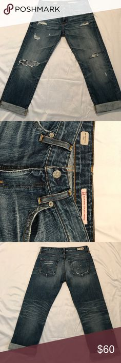 Adriano Goldschmied AG ex boyfriend crop AG ex boyfriend crop aged 17 yr Distressed jeans size 27R, excellent condition, inseam 26. AG Adriano Goldschmied Jeans Ankle & Cropped