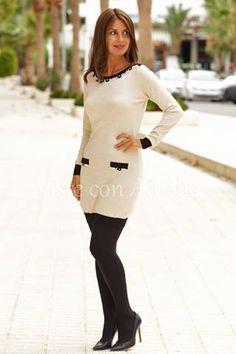 """#vestido """"Yvonne"""" en los demás colores. Tú eliges! - Queda muy mono también con leggins negros. #vestidomujer #modamujer #visteconamelia"""