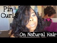 How To Do Pin Curls⎜Natural Hair