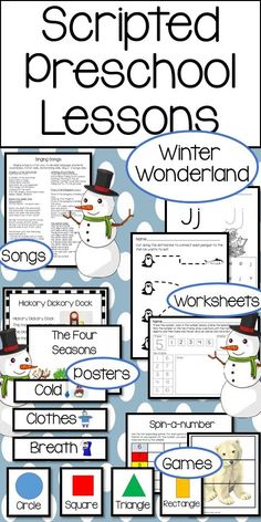 Fully written lesson plans for preschool. Learn about winter, arctic animals, frost, and much more with these engaging developmentally appropriate lessons.  Prepare students for kindergarten with language arts and math lessons.  Let children discover and learn through hands-on play and game activities.