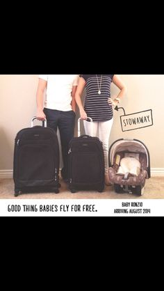 Travel Inspired Baby Announcement