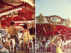 Engagement session at the Carnival