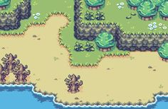 Seasons Tileset 1 by World-of-NoeL Design Reference, Art Reference, League Of Legends, Top Down Game, Rpg Map, Game Textures, Pix Art, Pixel Art Games, Pokemon