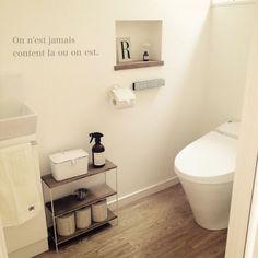 Pin on おしゃれトイレ(Stylish toilet Ⅰ) Diy Interior, Room Interior, Interior Design Living Room, Bathroom Toilets, Laundry In Bathroom, Guest Toilet, Toilet Room, Bathroom Plans, Home And Deco